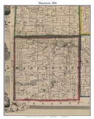 Manchester, Michigan 1856 Old Town Map Custom Print - Washtenaw Co.