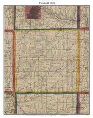 Pittsfield, Michigan 1856 Old Town Map Custom Print - Washtenaw Co.