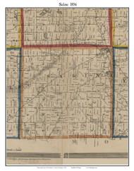 Saline, Michigan 1856 Old Town Map Custom Print - Washtenaw Co.