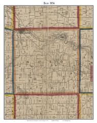 Scio, Michigan 1856 Old Town Map Custom Print - Washtenaw Co.