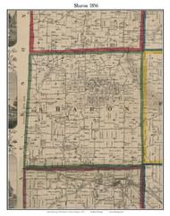 Sharon, Michigan 1856 Old Town Map Custom Print - Washtenaw Co.