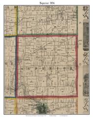 Superior, Michigan 1856 Old Town Map Custom Print - Washtenaw Co.
