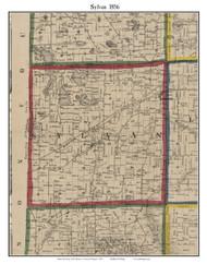 Sylvan, Michigan 1856 Old Town Map Custom Print - Washtenaw Co.