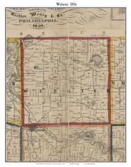 Webster, Michigan 1856 Old Town Map Custom Print - Washtenaw Co.