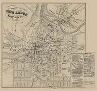 Ann Arbor Village, Ann Arbor, Michigan 1856 Old Town Map Custom Print - Washtenaw Co.