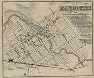 Manchester Village, Manchester, Michigan 1856 Old Town Map Custom Print - Washtenaw Co.