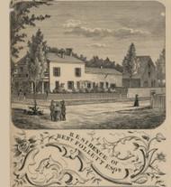 Follett Residence, Not Determined, Michigan 1856 Old Town Map Custom Print - Washtenaw Co.