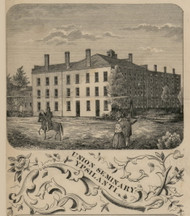 Union Seminary, Ypsilanti, Michigan 1856 Old Town Map Custom Print - Washtenaw Co.