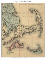 Cape Cod 1879 Williams Railroad Map - Old Map Custom Print