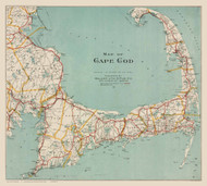 Cape Cod Only 1917 Walker - Old Map Reprint
