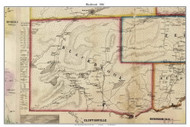 Blackbrook, New York 1856 Old Town Map Custom Print - Clinton Co.