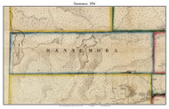 Dannemora, New York 1856 Old Town Map Custom Print - Clinton Co.