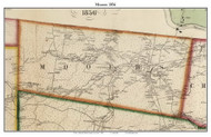 Mooers, New York 1856 Old Town Map Custom Print - Clinton Co.