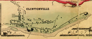 Clintonville, Ausable, New York 1856 Old Town Map Custom Print - Clinton Co.