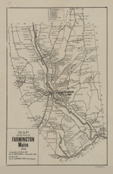 Farmington 1910 Mitchell - Old Map Reprint - Maine Cities Other