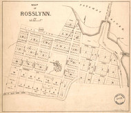 Rosslyn - Map Only ca. 1888 -  - Old Map Reprint - Virginia Cities
