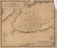 Alexandria 1881 - Index to points of interest and text - Old Map Reprint - Virginia Cities