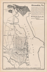 Alexandria 1911 - Showing Connections with Washington - Old Map Reprint - Virginia Cities