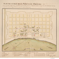 New Orleans 1723 - Old Map Reprint - Louisiana Cities