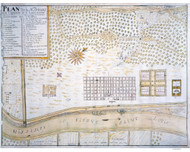 New Orleans ca 1747 - Old Map Reprint - Louisiana Cities