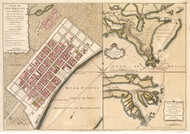 New Orleans BPL (Colored) 1759 - Old Map Reprint - Louisiana Cities
