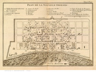 New Orleans 1764 - Old Map Reprint - Louisiana Cities