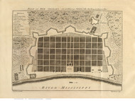 New Orleans 1770 - Old Map Reprint - Louisiana Cities