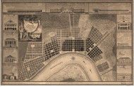 New Orleans 1817 - Old Map Reprint - Louisiana Cities