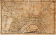 New Orleans ca 1829 - Old Map Reprint - Louisiana Cities