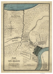 New Orleans 1875 - Old Map Reprint - Louisiana Cities