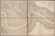 New Orleans ca 1895 - Old Map Reprint - Louisiana Cities