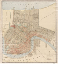 New Orleans 1908 - Old Map Reprint - Louisiana Cities
