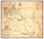 Baltimore 1792 - Folie - Old Map Reprint Maryland Cities