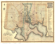 Baltimore 1822 - Lucas - Old Map Reprint Maryland Cities