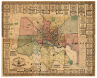 Baltimore 1856 - Martenet - Old Map Reprint Maryland Cities