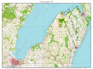 Green Bay - South 1960 - Custom USGS Old Topo Map - Wisconsin