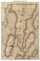 Alburgh & Isle La Motte, Vermont 1857 Old Town Map Custom Print - Franklin Co.
