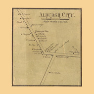 Alburgh City, Vermont 1857 Old Town Map Custom Print - Franklin Co.