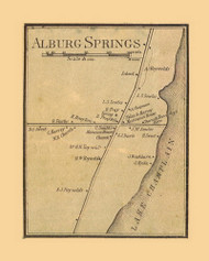 Alburgh Springs, Vermont 1857 Old Town Map Custom Print - Franklin Co.