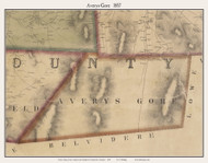 Averys Gore, Vermont 1857 Old Town Map Custom Print - Franklin Co.