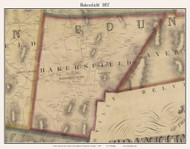 Bakersfield, Vermont 1857 Old Town Map Custom Print - Franklin Co.