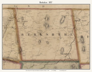 Berkshire, Vermont 1857 Old Town Map Custom Print - Franklin Co.