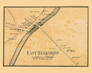 East Berkshire, Vermont 1857 Old Town Map Custom Print - Franklin Co.