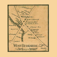 West Berkshire, Vermont 1857 Old Town Map Custom Print - Franklin Co.