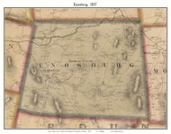 Enosburg, Vermont 1857 Old Town Map Custom Print - Franklin Co.
