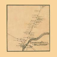 Enosburg Falls Village, Vermont 1857 Old Town Map Custom Print - Franklin Co.
