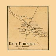East Fairfield, Vermont 1857 Old Town Map Custom Print - Franklin Co.
