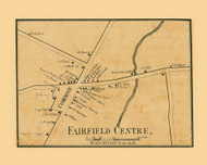 Fairfield Centre, Vermont 1857 Old Town Map Custom Print - Franklin Co.