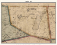 Franklin, Vermont 1857 Old Town Map Custom Print - Franklin Co.