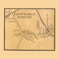 East Franklin, Vermont 1857 Old Town Map Custom Print - Franklin Co.
